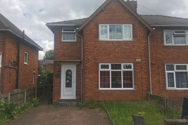 Thumbnail Semi-detached house to rent in Bassett Street, Walsall, Westmidlands