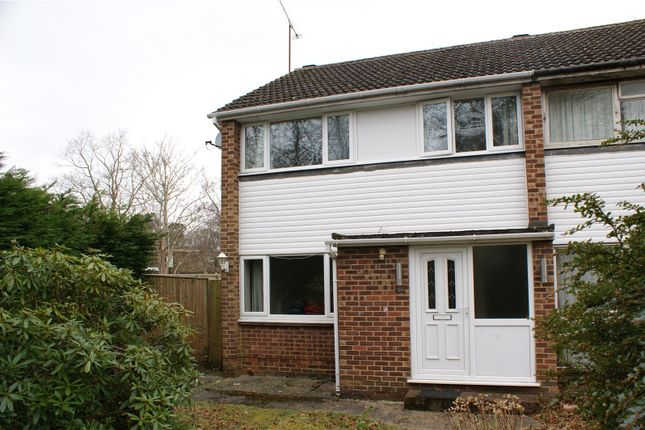 Thumbnail End terrace house to rent in Fairwater Drive, Woodley, Reading, Berkshire