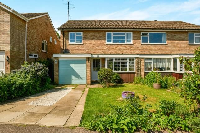 Thumbnail Semi-detached house for sale in Webbs Close, Bromham, Bedford, Bedfordshire