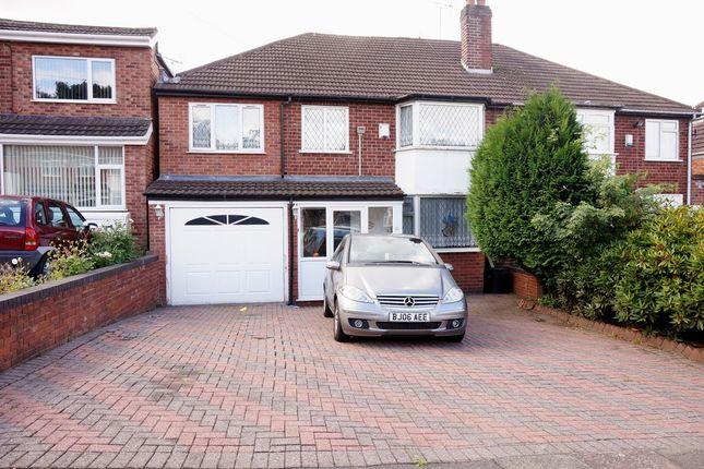 Thumbnail Semi-detached house for sale in Medcroft Avenue, Handsworth Wood, Birmingham