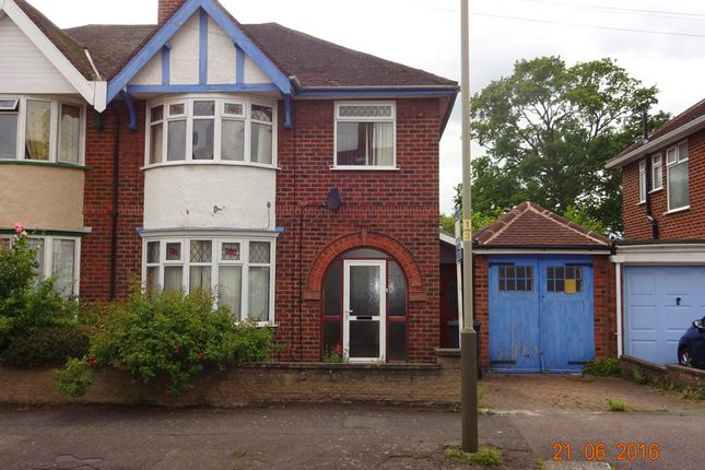 Thumbnail Semi-detached house for sale in Peters Drive, Uppingham Rd Leicester