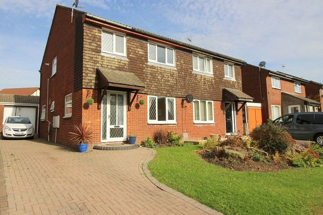 Thumbnail Semi-detached house for sale in The Spinney, Brackla, Bridgend.