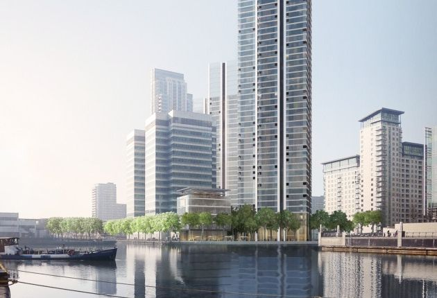 Thumbnail Flat for sale in Marsh Wall, Canary Wharf, London