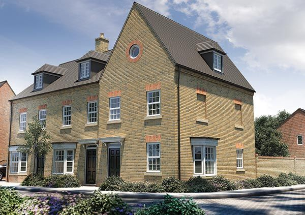 """Thumbnail Semi-detached house for sale in """"The Holnicote"""" at Potton Road, Biggleswade"""