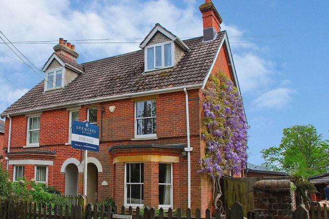 Thumbnail Semi-detached house for sale in Balmer Lawn Road, Brockenhurst