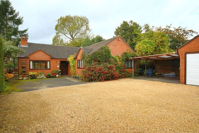 Thumbnail Detached bungalow for sale in Cemetery Road, Market Drayton