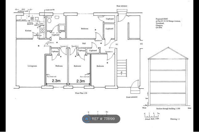 Floor Plan of St. Mungo Avenue, Glasgow G4