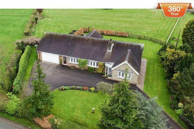 Thumbnail Detached bungalow for sale in Hollington Road, Rocester, Uttoxeter