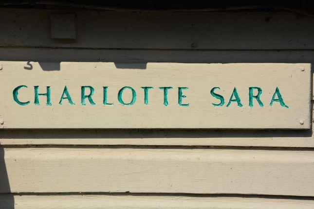 Signage of Charlotte Sara, Swan Island Harbour, Twickenham TW1