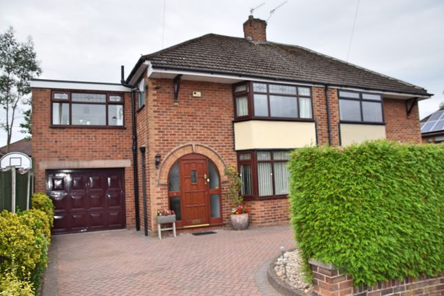 Thumbnail Semi-detached house for sale in Cherry Tree Close, Trentham, Stoke-On-Trent