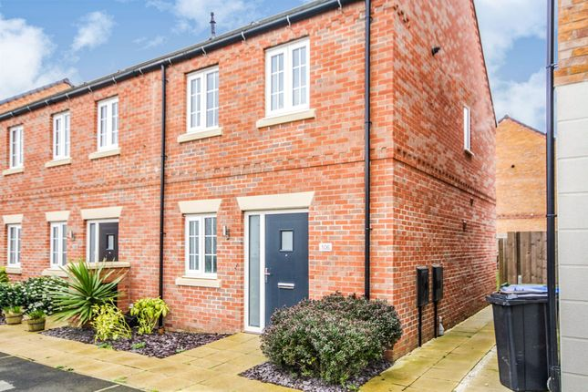 Thumbnail End terrace house for sale in Angell Drive, Market Harborough
