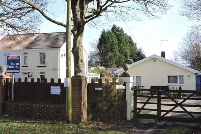 Thumbnail Detached bungalow for sale in Llangyfelach Road, Tirdeunaw, Swansea