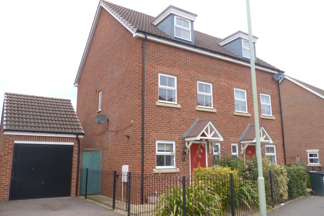 Thumbnail Semi-detached house to rent in Brize Avenue, Kingsway, Gloucester