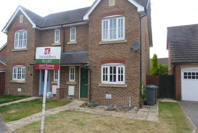 Thumbnail Semi-detached house to rent in Lyle Close, Kesgrave, Ipswich