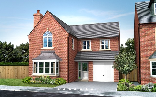 Thumbnail Detached house for sale in The Sutton, William Nadin Road, Swadlincote, Derby
