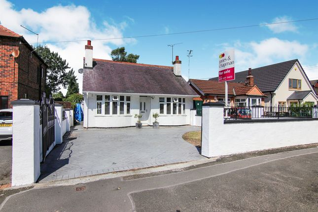 Thumbnail Detached bungalow for sale in Overchurch Road, Saughall Massie, Wirral