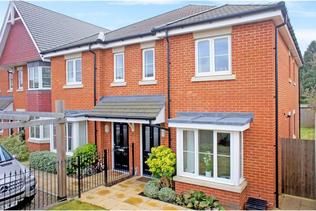 Thumbnail Semi-detached house for sale in Burgess Close, Mytchett, Camberley