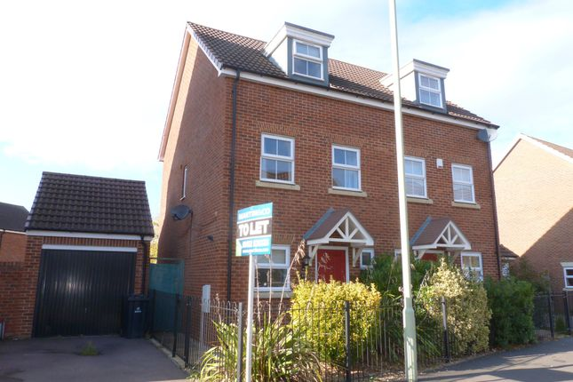 Thumbnail Semi-detached house to rent in Brize Avenue Kingsway, Quedgeley, Gloucester