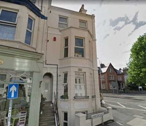 Thumbnail Flat for sale in First Floor Flat, 25 Cheriton Place, Folkestone