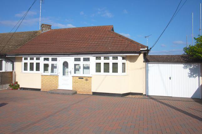 Thumbnail Semi-detached bungalow for sale in Kings Road, Basildon, Essex
