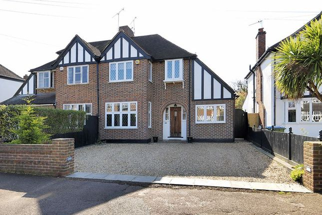Thumbnail Semi-detached house for sale in Manor Drive, Hinchley Wood