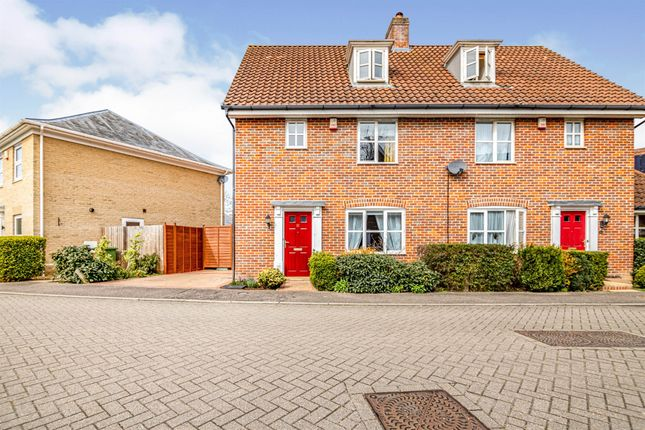 Thumbnail Semi-detached house for sale in South Park Drive, Papworth Everard, Cambridge
