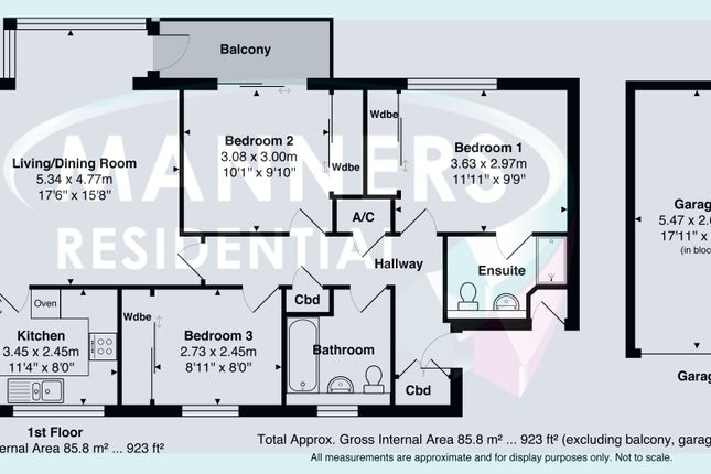 Floor Plan of Rookwood Court, Guildford GU2