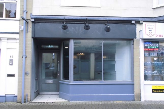 Thumbnail Retail premises to let in Cricklade Street, Cirencester