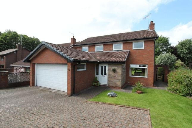 Thumbnail Detached house for sale in Castel Close, Newcastle-Under-Lyme