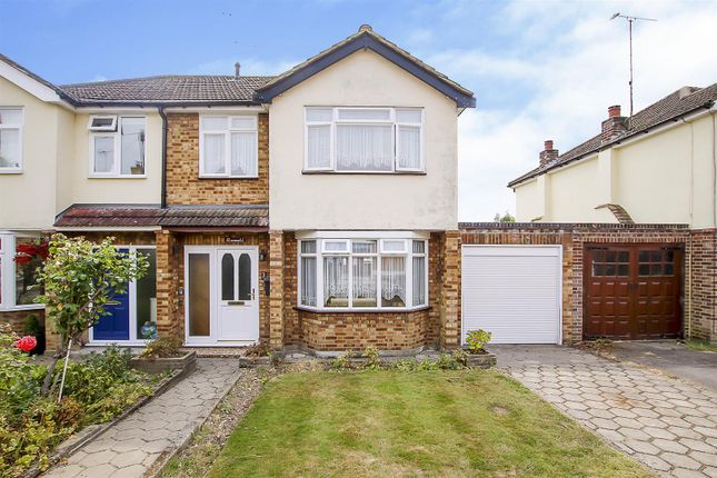Thumbnail Semi-detached house for sale in Meadows Close, Ingrave, Brentwood