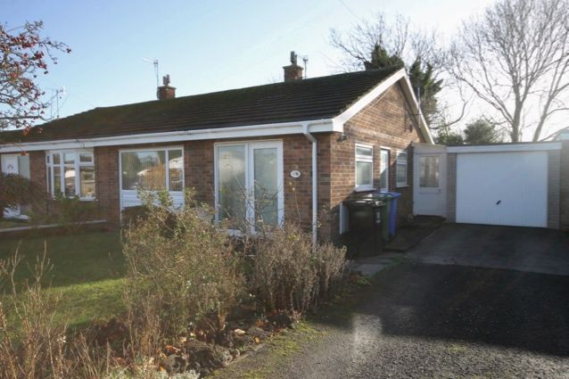 Thumbnail Semi-detached bungalow for sale in Rosemoor Close, Hunmanby, Filey