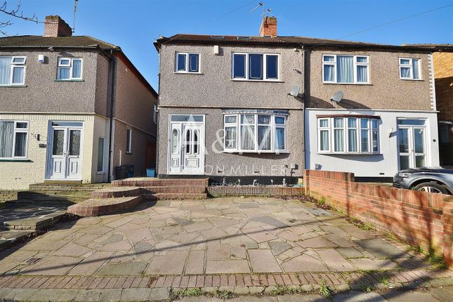 Thumbnail Semi-detached house for sale in Cardinal Drive, Ilford