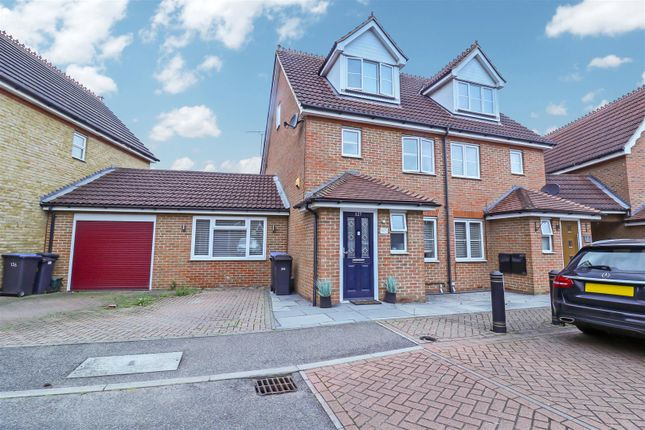 Thumbnail Semi-detached house for sale in Malkin Drive, Church Langley, Harlow