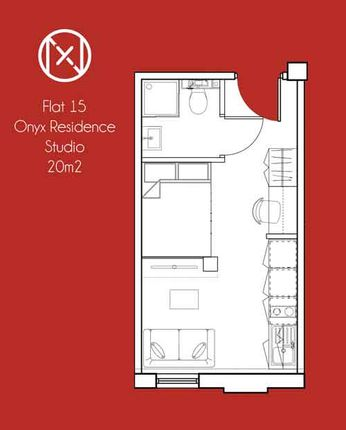 Floorplan of Onyx Residence, 111 St Mary's Road, Sheffield S2
