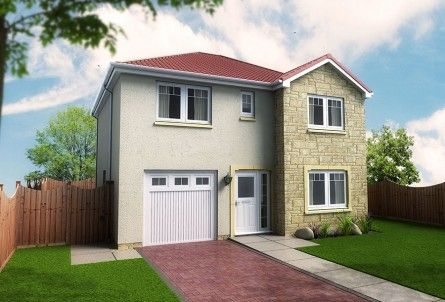 Thumbnail Detached house for sale in Wisteria Off Station Road, Springfield, Fife