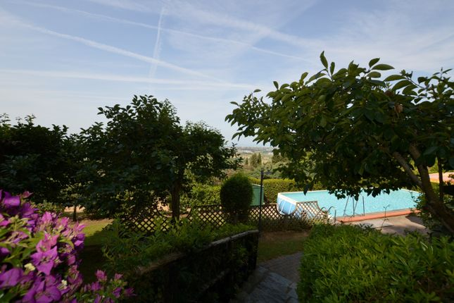 Garden And Pool of Villetta Clara, Massarosa, Lucca, Tuscany, Italy