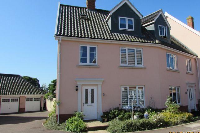 Thumbnail End terrace house for sale in Crown Meadow, Norwich, Norfolk