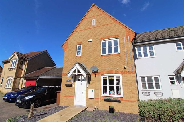 Thumbnail End terrace house for sale in Demoiselle Crescent, Ipswich