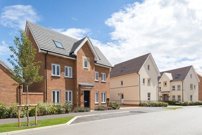 "Thumbnail Semi-detached house for sale in ""Hexham"" at Countess Way, Broughton, Milton Keynes"