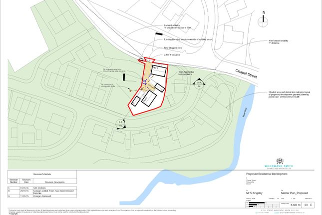 Proposed Plan of Development Site For 2 Dwellings, Chapel Street, Holsworthy EX22