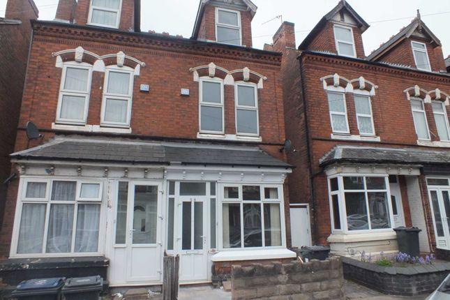 Thumbnail Semi-detached house to rent in York Road, Erdington, Birmingham