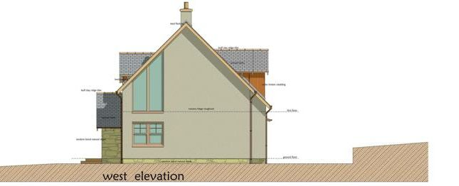 West Elevation of Knock, Huntly AB54