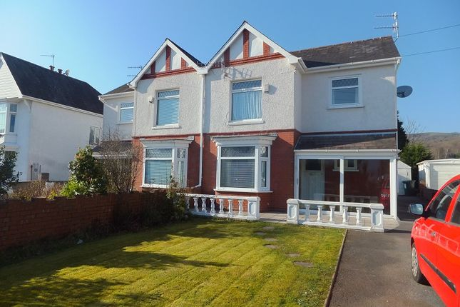 Thumbnail Semi-detached house to rent in Pontardawe Road, Clydach, Swansea, City And County Of Swansea.