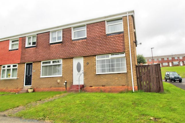 Thumbnail End terrace house for sale in Helmsley Close, Penshaw, Houghton Le Spring