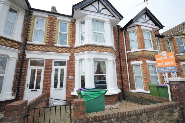 Thumbnail Terraced house for sale in St. Hilda Road, Folkestone