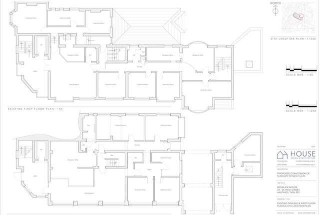 Existing Ground And First Floor Plan  A1-1.Png