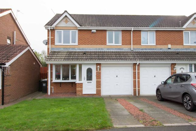 Thumbnail Semi-detached house for sale in Primrose Close, Annitsford, Cramlington
