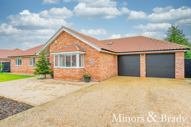 Thumbnail Detached bungalow for sale in Bessey Close, Filby, Great Yarmouth