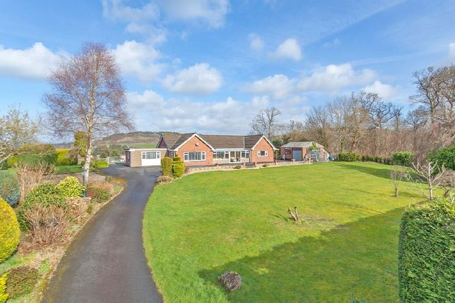 Thumbnail Detached bungalow for sale in Hospital Road, Builth Wells