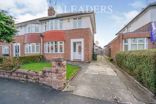 Thumbnail Semi-detached house to rent in Fieldway, Hoole, Chester